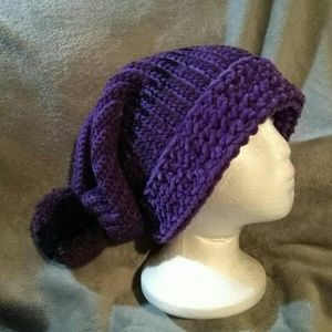 Handmade large purple hat